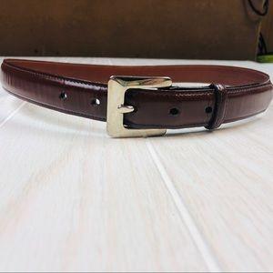 Brown Coach belt size medium genuine cowhide